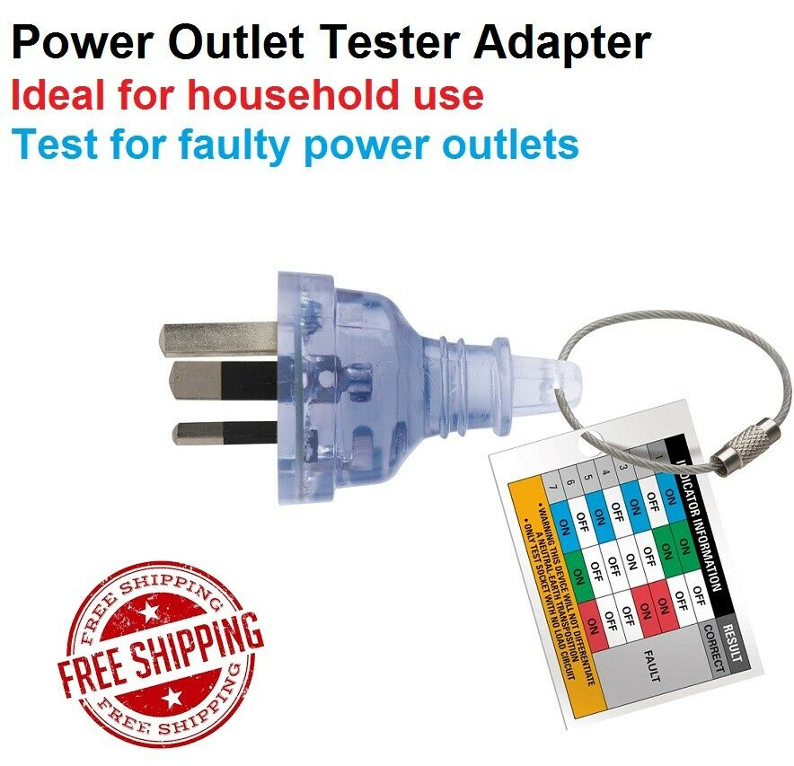 Power Outlet Tester Fault Indicator Wire Electrical Testing Adapter Plug Au 240v Ebay