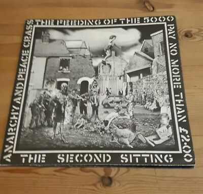 CRASS Feeding Of The 5000 The 2nd Sitting 1st Press Vinyl 621984 & Poster Sleeve - The Feeding Of The 5000