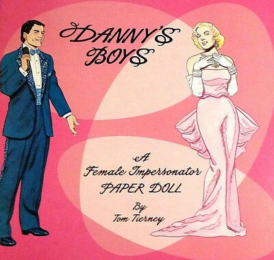 DANNY'S BOYS A Female Impersonator Paper DOLL Book MINT CONDITION! Best Price!