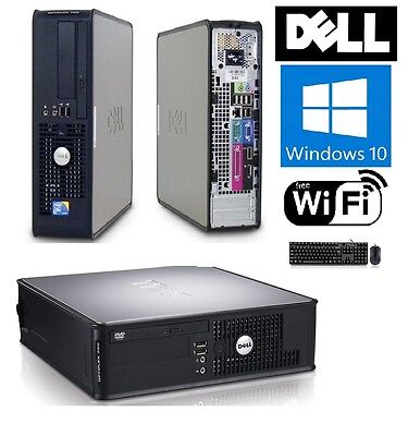 Fast Dell OptiPlex 380 / 780 SFF/DT PC Windows 10 Core 2 Duo 4GB DDR3 DVD WiFi