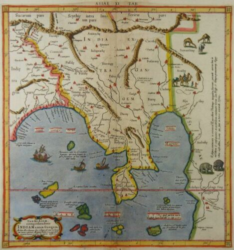 SOUTHEAST ASIA MALAY PENINSULA THAILAND MAP MERCATOR PTOLEMY India extra Gangem