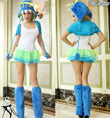 Halloween Girl Furry Three-eyed Monster Party Cosplay Carnival Stage Costume - Halloween Costumes Three