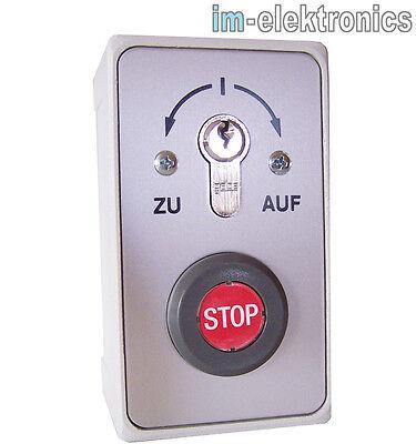 Schlüsseltaster Schlüsselschalter Aufputz geba 093.1202.10 Rolltor Tor Antrieb