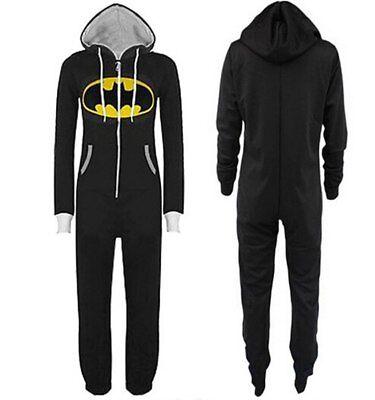 Batman Adult Unisex Hooded Jumpsuit 1Onesie- Black