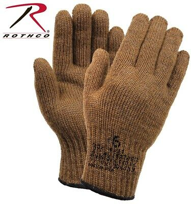 Coyote D-3A Military Wool Nylon Blend Glove Liners - Made in the USA Rothco -