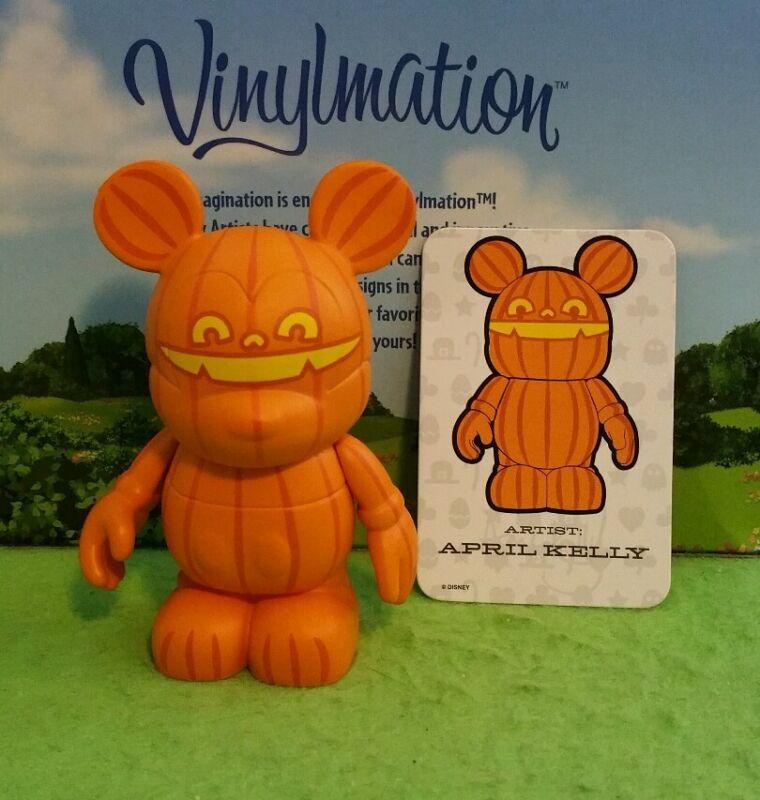 "DISNEY Vinylmation 3"" Park Set 2 Holiday Halloween Jack OLantern Pumpkin w/ Card"