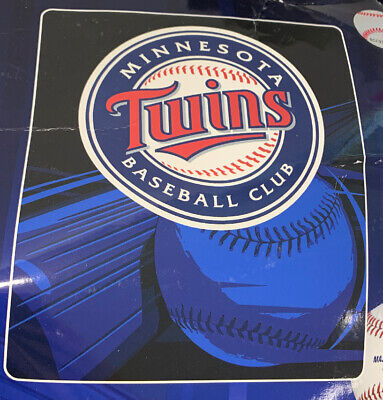 Officially Licensed MLB Minnesota TWINS Throw Blanket Washable 50x60 -- (READ) Minnesota Twins Throw