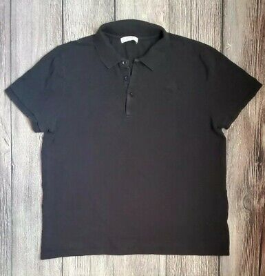 Versace Collection Men's Polo Shirt Size XL Fits Small Gianni Black