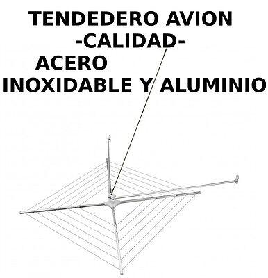 TENDEDERO DE AVION-GIRATORIO EN ACERO INOXIDABLE Y ALUMINIO PARA EXTERIOR