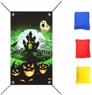 Nakimo Halloween Toss Games, Pumpkin Bean Bag Toss Games with 3 Bean Bags,