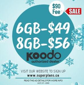 6GB $49/month - KOODO UNLIMITED CANADA-WIDE PHONE PLAN - www.SuperPlans.ca - Ryan