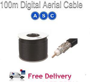 100m-RG6-Satellite-Aerial-Cable-Digital-Coax-Sky-Black