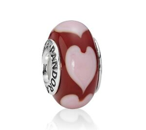 PANDORA MURANO GLASS BEADS with Pandora Velvet Pouch