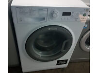 E297 white & graphite hotpoint 9kg A+++ rated washing machine comes with warranty can be delivered