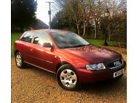 AUDI A3 1.6 SE 3 Door AUTOMATIC Just 25,000 Miles From New 1 Owner Full Audi Service History