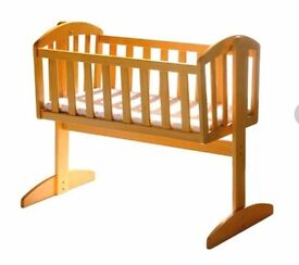 Wooden swinging cot