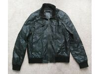Mens faux leather jacket large