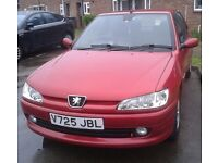 selling for parts PEUGEOT 306 MERIDIAN 5 DOOR HATCHBACK 1587cc (RED) 2000 PETROL MANUAL