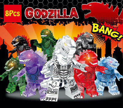 8Stk Godzilla MUTO King of the Monsters Set Mini Figures Fits Lego Blocks Toys Godzilla Spielzeug Muto