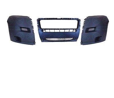 CITROEN RELAY 2006 - 2014 FRONT BUMPER 3 PIECES GRAINED BLACK/GREY FINISH NEW