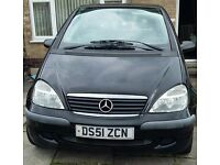 Black Mercedes Aclass A140