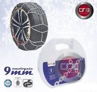 Catene Neve Power Grip 9mm Omologate Gr.80 pneumatici 195//55r16 Peugeot 208