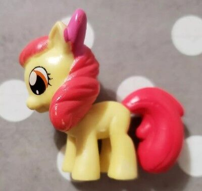 "MY LITTLE PONY MY BUSY BOOKS APPLE BLOOM 2"" MINI FIGURE YELLOW & RED PINK BOW"