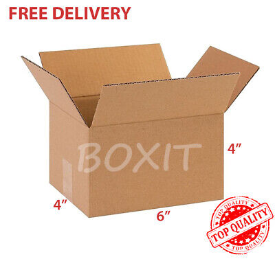 25 - 6x4x4 Cardboard Paper Shipping Boxes Mailing Packing Box Corrugated Carton