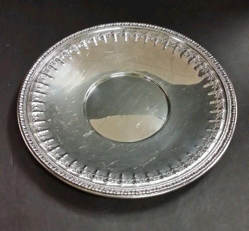 "Reed & Barton Riviera Silverplate Ornate Plate 10.5"""