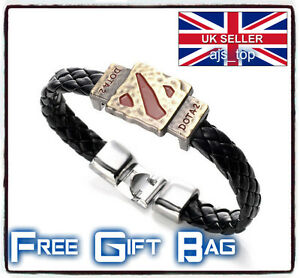 Dota2 Wristband Alloy Leather Cosplay Bracelet LoL Steam