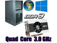 Gaming PC, QUAD CORE 3.0GHz, R7 250X GDDR5 , 6GB Ram,320GB HD