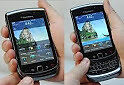 FOUR NEATLY USED BLACKBERRY TORCH 9800