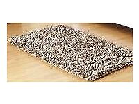 Large Rocky Beige Textured Wool Rug 150 x 240cm