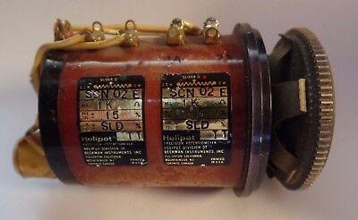 High Precision Beckman Helipot 1kohm Scn 026 Potentiometer Tested