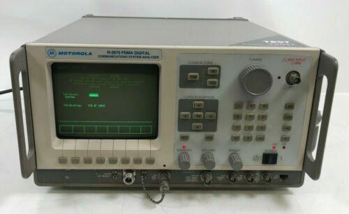 Motorola R2670 FDMA Digital Service Monitor Analyzer w/ Tracking Generator