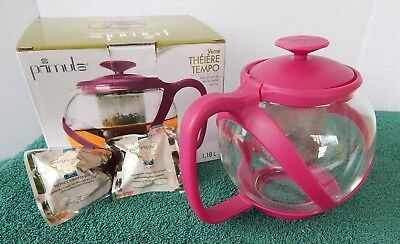 Primula PTMRM-2340 Tempo Teapot with Infuser and Lid, 40-Ounce ~2 Flowering Teas