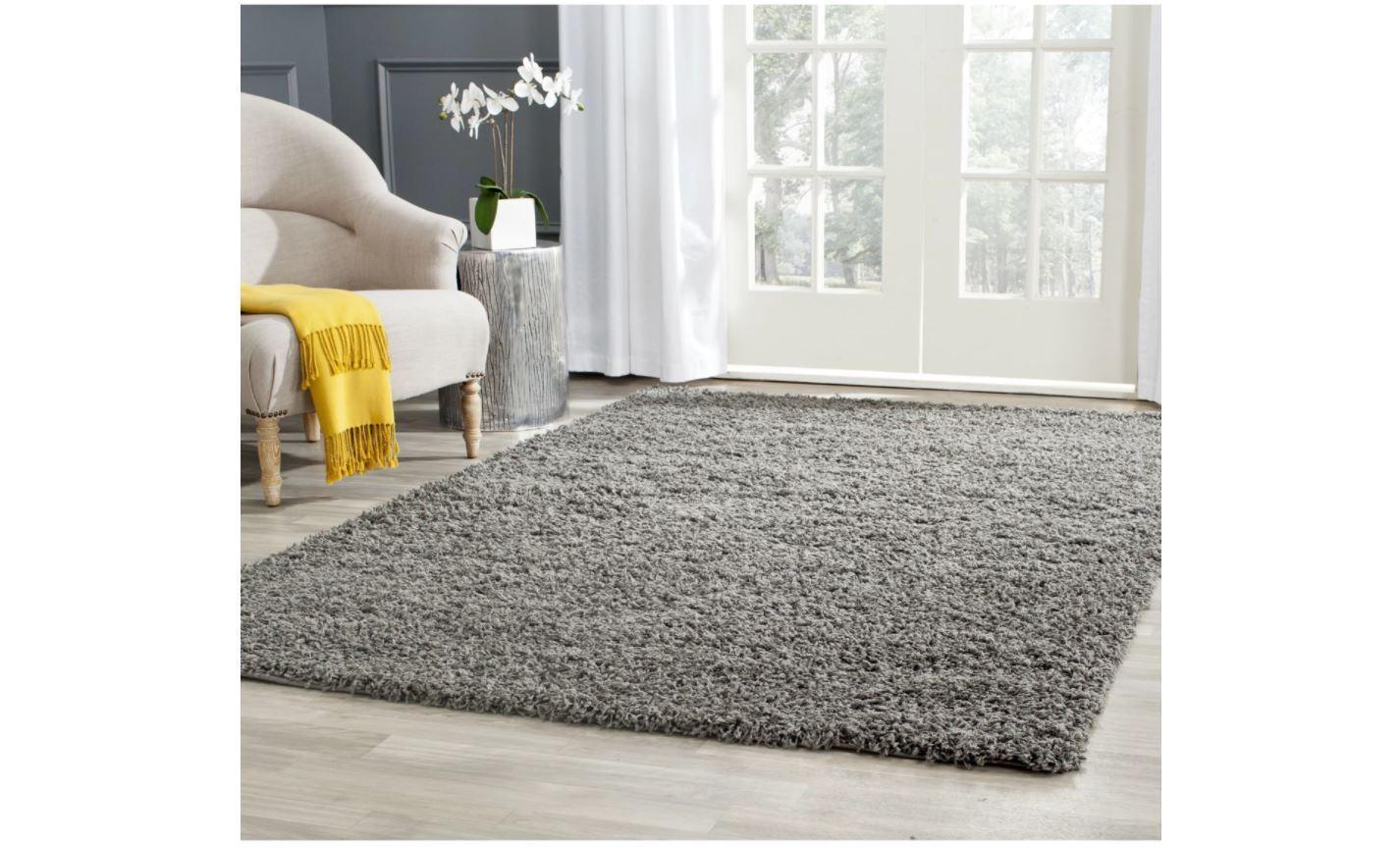 Safavieh Athens Shag Dark Grey Area Rug 9'x12' Carpet Indoor