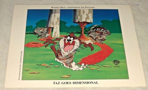 Warner Brothers Tasmanian Devil Promo Card Taz Goes Dimensional