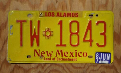 1987 LOS ALAMOS New Mexico License Plate - Smallest County In NM