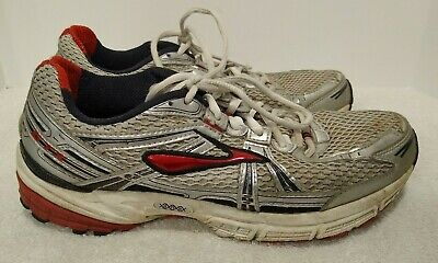 Brooks Adrenaline GTS 11 Men's Size 9 Silver Red Black Running Training Shoes