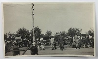 Snapshot Photo Parade or Festival People in Costumes & Masks Horse Drawn - People In Masks