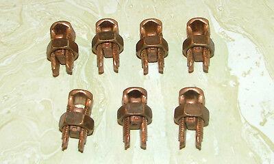 Lot Of 7 Nos Burndy Copper Alloy Split-bolt Connector6 Str To 2 Sol Ks22