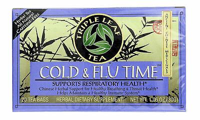 板藍根感冒茶Triple Leaf Tea Cold & Flu Time 20 Tea Bags Chinese Isatis Root Herbal Tea Flu Time Tea