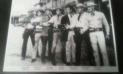Vintage TV Cowboys Westerns 7 Actors Photo Copy