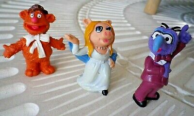 MUPPET SHOW lot 3 figurin fozzy  gonzo peggy  SCHLEICH V 1976/1977