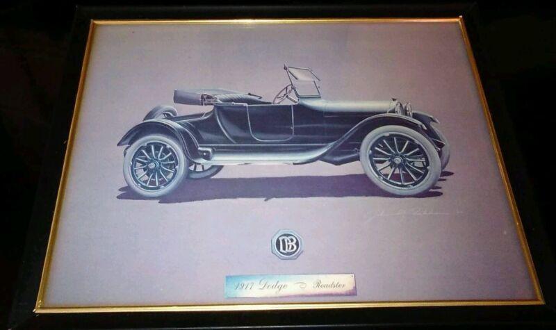 Car Automobile Print 1917 Dodge Roadster John M Peckham
