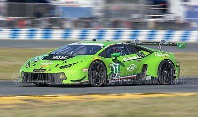 Lamborghini Huracan GT3 GTD Winner Daytona 2018 Rolex 24 Race Car Photo CA1495
