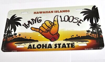 USA Auto Nummernschild License Plate Deko Blechschild Hawaii Hang Loose Aloha
