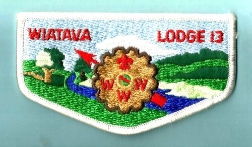 OA Lodge 13 S- WIATAVA OA LODGE brown cog stone Boy Scout flap CA Orange Council