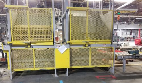 2 Newcastle pallet dispensers stacker with conveyor
